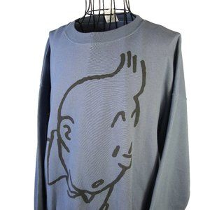 VTG Tintin Graphic sweatshirt 90s